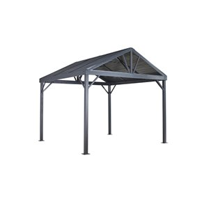 Sojag Sanibel I Sun Shelter in Grey - 8-ft x 8-ft