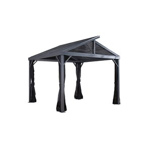 Sojag Sanibel II Sun Shelter in Grey - 8-ft x 8-ft