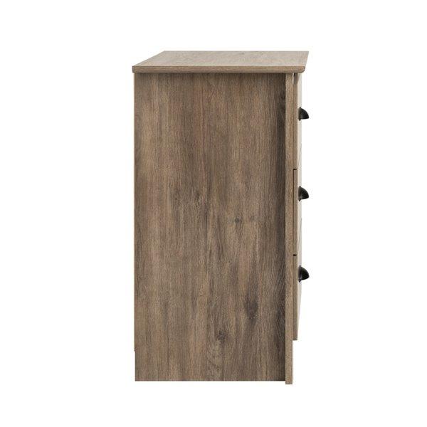 Prepac Salt Spring 3-drawer Tall Nightstand in Drifted Gray