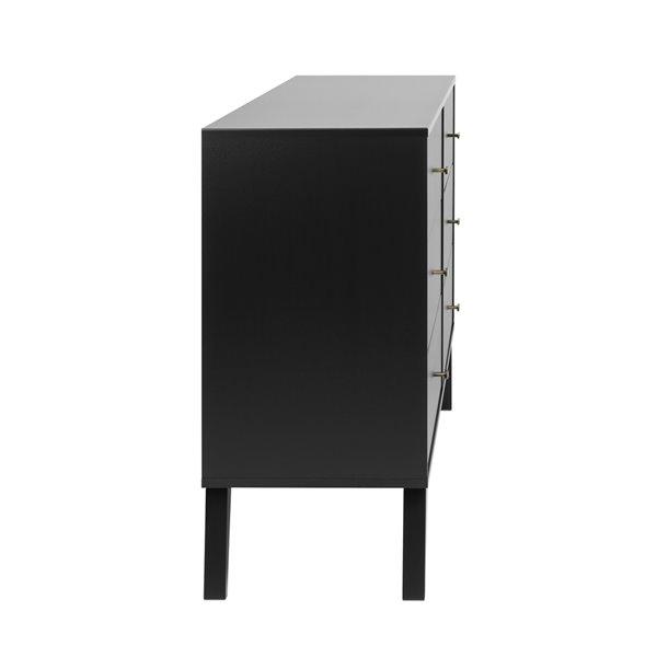 Prepac Milo 6-drawer Dresser in Black Finish - 52.25-in