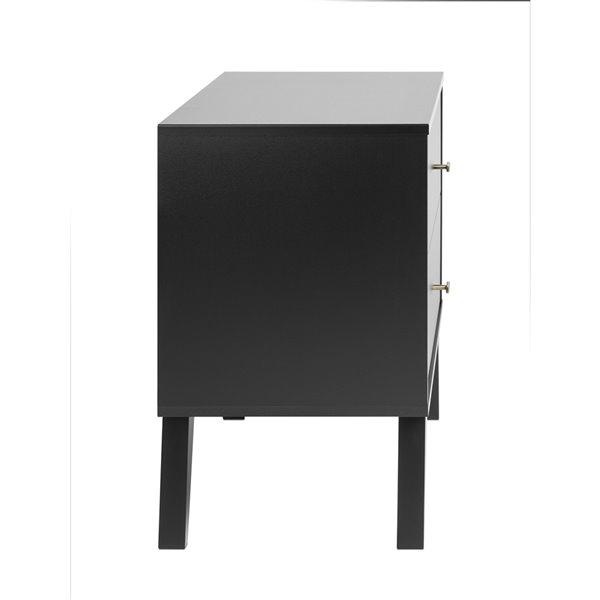 Prepac Milo 2-drawer Nightstand, Black