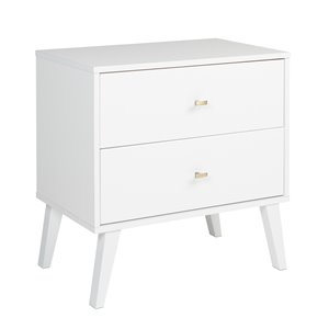 Prepac Milo 2-drawer Nightstand, White