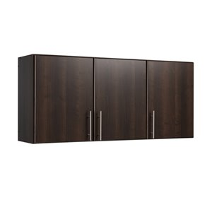 Prepac Elite Wall Cabinet in Espresso Finish - 54-in