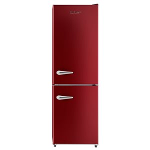 iio Retro Frost Free Refrigerator with Bottom Freezer - 11 cu. ft. - Red