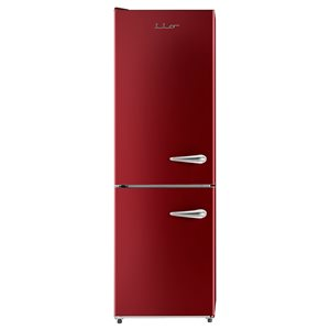 iio Retro Frost Free Refrigerator with Bottom Freezer - Left Hinge - 11 cu. ft. - Red