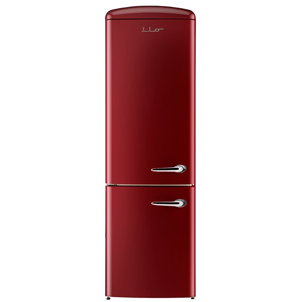 Bottom Mount Retro Refrigerator in Bordeaux with Left Hinge -12 cu.ft. - 24-in