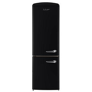 Réfrigérateur Rétro de Chambers à congélateur inférieur de 12 pi. cu, noir minuit, 24 po