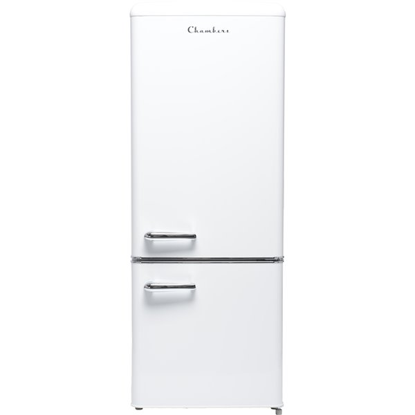 Chambers 7 cu ft Retro Bottom Mount Refrigerator in Frost White - 21.46-in
