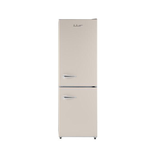 iio Retro Frost Free Refrigerator with Bottom Freezer - Right Hinge - 11 cu. ft. - Cream