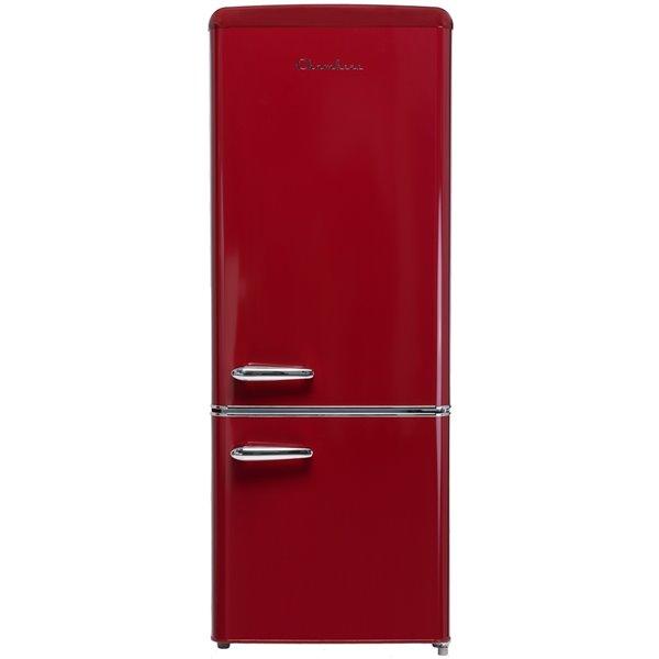 Réfrigérateur 7 pi cu. de Chambers à congélateur inférieur, rouge, 21,46 po