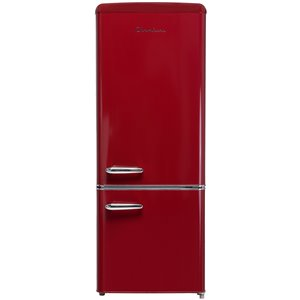Chambers 7 cu ft Retro Bottom Mount Refrigerator in Wine Red - 21.46-in