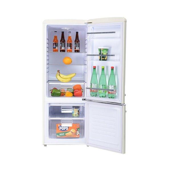 Réfrigérateur 7 pi cu. de Chambers à congélateur inférieur, crème, 21,46 po