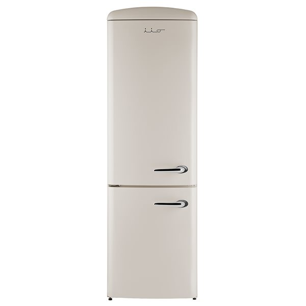 Bottom Mount Retro Refrigerator in Champagne with Left Hinge -12 cu.ft. - 24-in