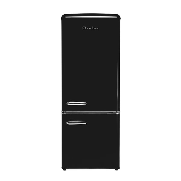 Chambers 7 cu ft Retro Bottom Mount Refrigerator in Midnight Black - 21.46-in