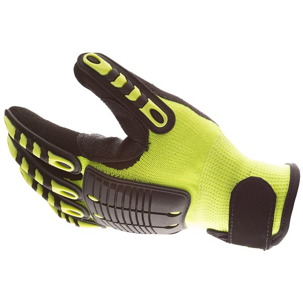 IMPACTO Back Tracker Anti-Impact Gloves - Medium - Green