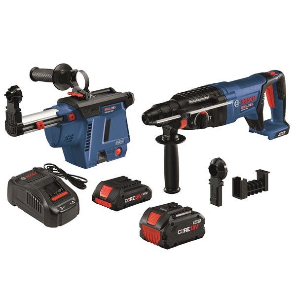 Bosch Brushless SDS-plus® Bulldog Rotary Hammer Kit - 18 V - 1-in