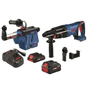 Bosch Brushless SDS-plus® Bulldog Rotary Hammer Kit - 18 V - 1-in
