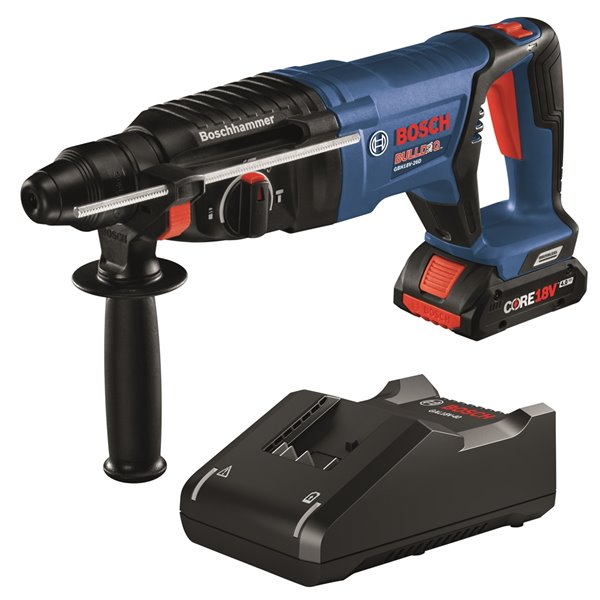 Bosch Brushless  Rotary Hammer with 4.0 AH Battery- 18 V - 1-in