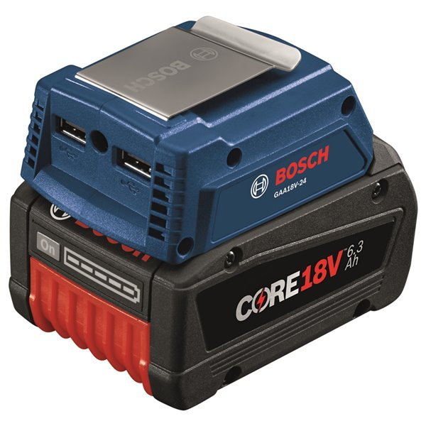 Bosch Portable 2-in-1 Power Adapter - 18 V - 1-in/4-in/2-in