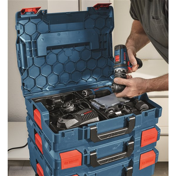 Bosch Stackable L-Boxx Accessory Storage Case with Inserts - 4.5-in