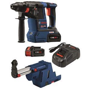 Bosch Brushless SDS-plus Bulldog Rotary Hammer Kit - 18 V - 1-in