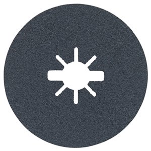 Disques fibres X-Lock à grain moyen, grain 60 de Bosch, 4-1/2 po