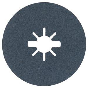 Disques fibres X-Lock à grain fin, grain 100 de Bosch, 25 mcx, 5 po