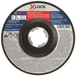 Disque à tronçonner X-Lock pour arbre 27A, grain60 de Bosch, 4,5 po x 0,045po