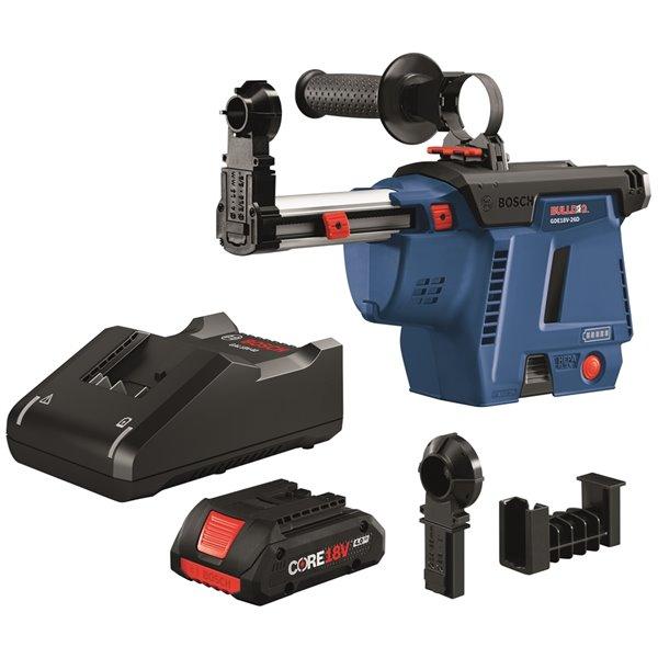 Bosch SDS-plus® Bulldog Mobile Dust Extractor Kit - 4.0 AH Battery - 18 V