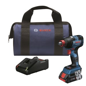 Bosch Brushless 2 in 1 Bit/Socket Impact Driver Kit - 1/4-in  and 1/2-in  - 18 V