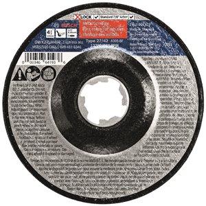 Bosch X-Lock Arbor 30 Grit Metal Grinding Abrasive Wheel - 4.5-in x 0.25-in