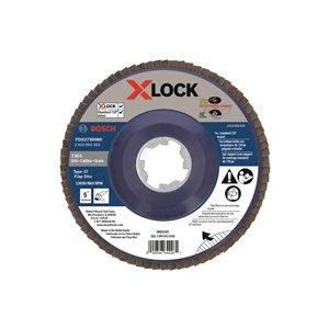 Disque à lamelles X-Lock pour arbre type 27, grain 80 de Bosch, 5 po
