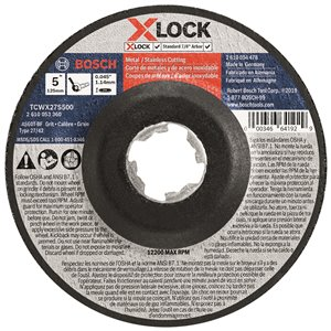Bosch X-Lock Arbor 27A 60 Metal Cutting Abrasive Wheel - 5-in x 0.045-in