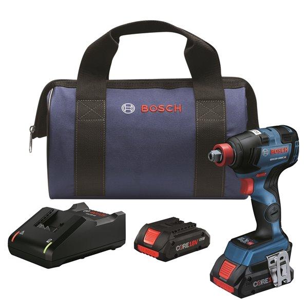 Bosch Brushless Freak Bit/Socket Impact Driver Kit - 1/4-in and 1/2-in 18  V