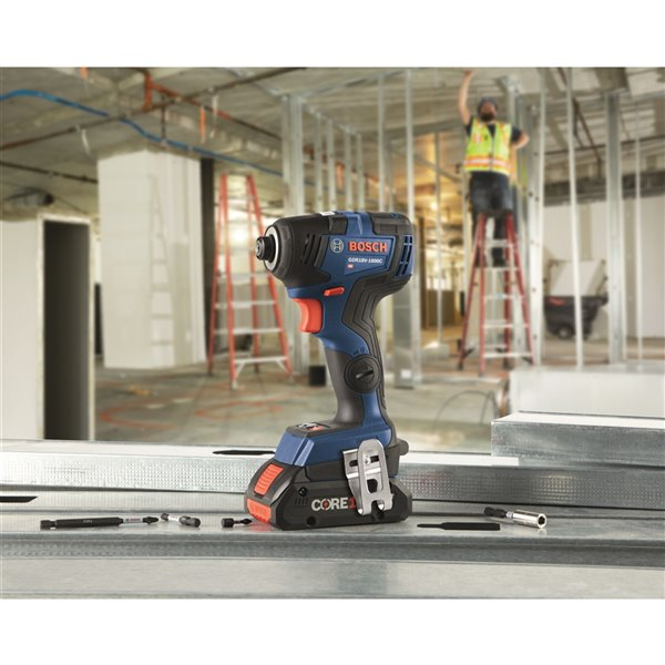 Bosch Brushless Connected-Ready Hex Impact Driver Kit - 1/4-in - 18 V