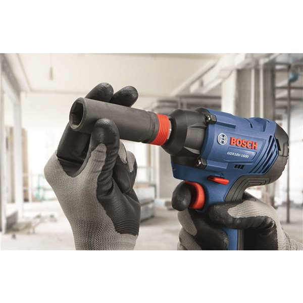 Bosch Freak Two-In-One Bit/Socket Impact Driver Kit - 1/4-in and 1/2-in - 18 V