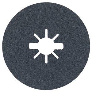 Disques fibres X-Lock à grain moyen, grain 80 de Bosch, 25 mcx, 4,5 po