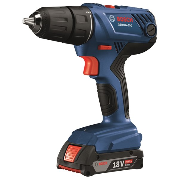 Bosch Tool Combo Kit with Drill, Driver and 2.0 AH Batteries - 18 V