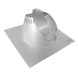 Selkirk JM Supervent Roof Flashing (0/12 to 6/12) - 7-in - 2 Pcs
