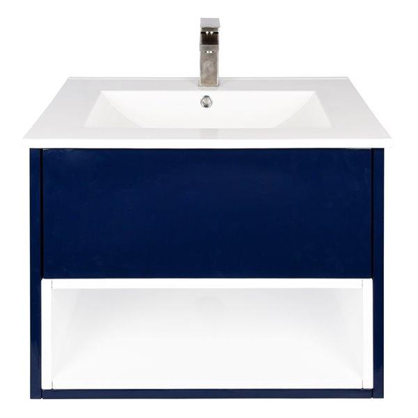 Ikou Midtown Bathroom Vanity with Single Sink in Navy Blue - 24-in