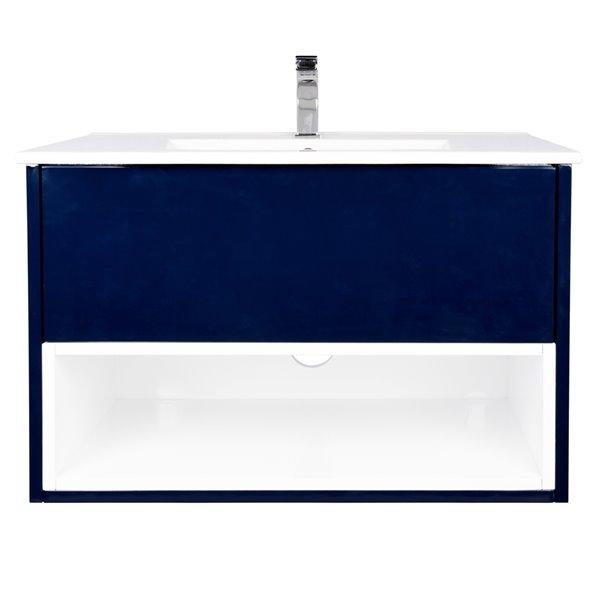 Ikou Midtown Bathroom Vanity with Single Sink in Navy Blue - 30-in