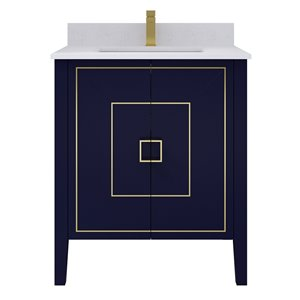 Ikou Hayden Bathroom Vanity with Single Sink - Navy Blue - 30-in