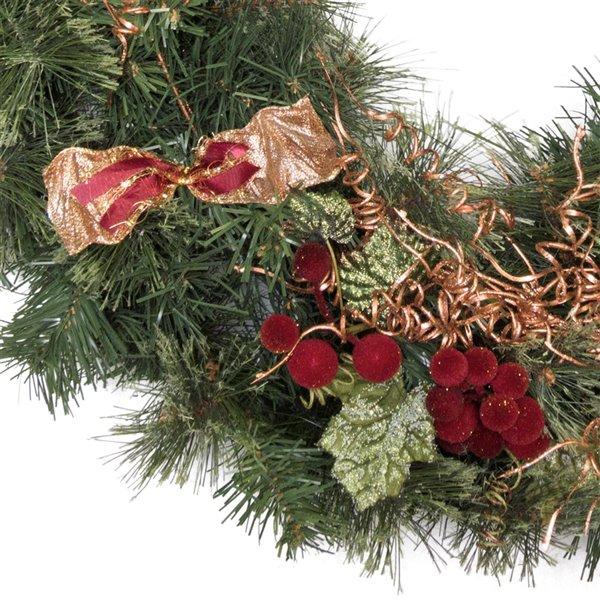 Henryka Decorated Indoor/Outdor Wreathe - 30-in - Golden Decorations