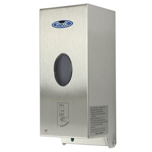 Distributeurs automatiques sans contact Frost de savon/désinfectant, 4.12 po x 4.37 po x 10.37 po