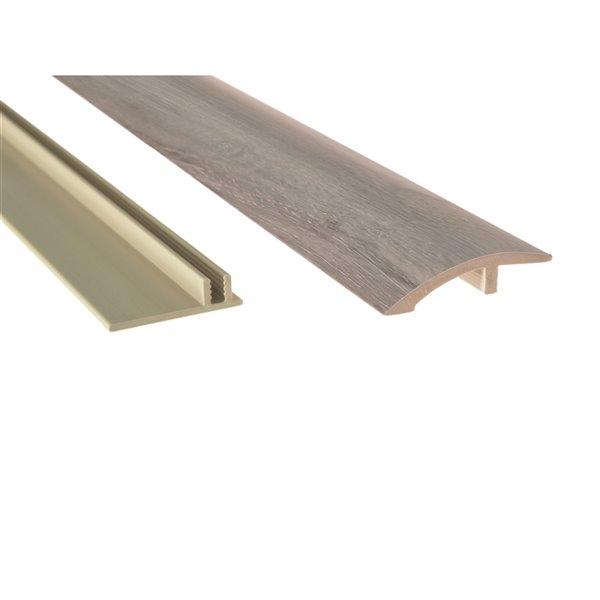 NewAge Products Luxury Vinyl Plank Flooring Bundle - Multi-Purpose Reducers  - 168 sq ft - Gray Oak