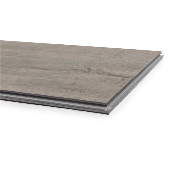 NewAge Products Luxury Vinyl Plank Flooring Bundle - T-Molding Transition Strips - 168 sq ft - Gray Oak