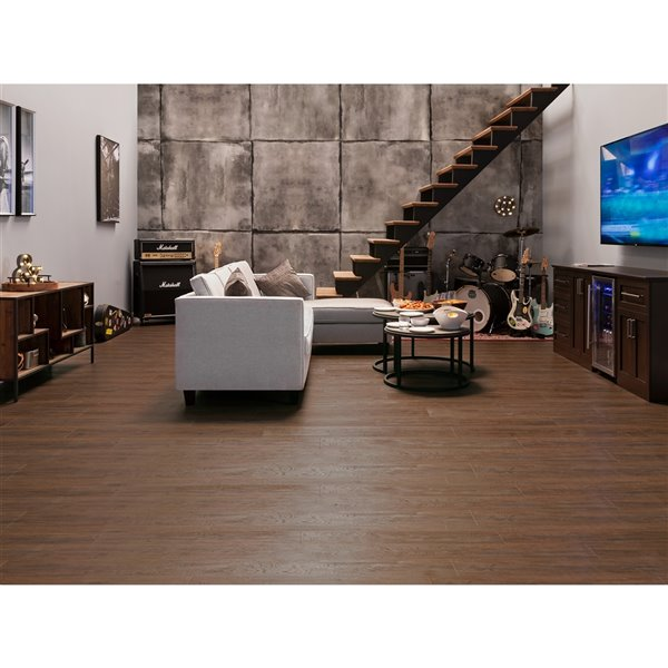 NewAge Products Luxury Vinyl Plank Flooring Bundle with Reducer - 216 sq ft - Forest Oak