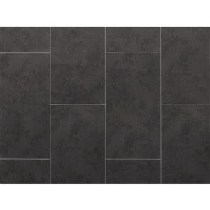 NewAge Products Stone Composite Luxury Vinyl Tile - 9.5 mm - 13.44 sq ft - Slate - 7-Pk