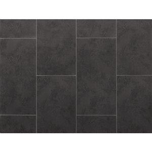 Tuile vinyle de luxe pierre composite NewAge Products, 9,5 mm, 13,44 pi², ardoise, 7 mcs