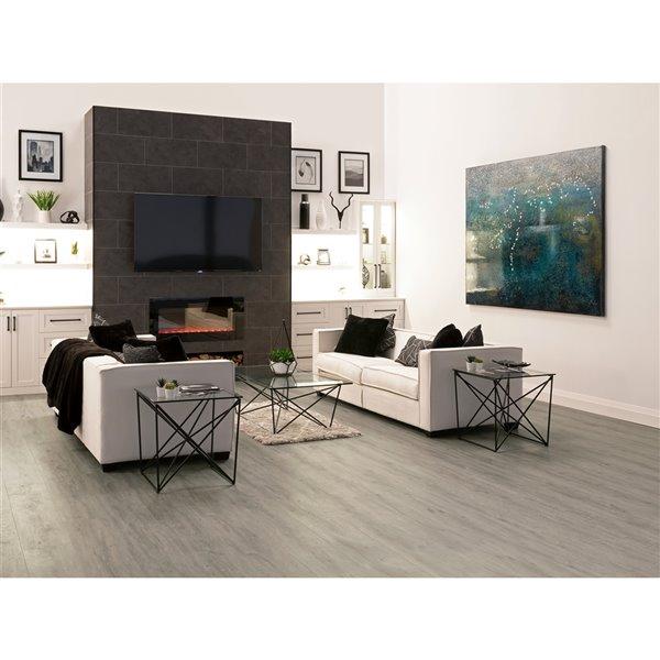 NewAge Products Stone Composite Vinyl Plank Flooring - 9.5 mm - Gray Oak - 5-Pk
